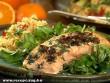 Sûlt lazac salátával, és török rizzsel