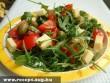 Rukkolás mediterrán saláta