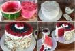 Dinnye alapú torta, kreatív és olcsó :)