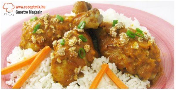 Curry-s csirkecombok