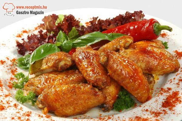 Ropogós-pikáns csirkeszárnyak