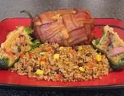Baconbe tekert töltött hús