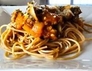 Sütőtökös spagetti