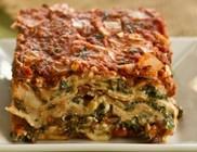 Túrós spenótos lasagne