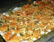 Tepsis rakott zöldbab